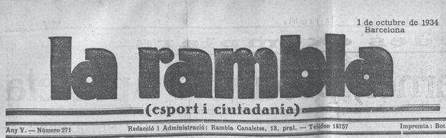 La Rambla, 1934
