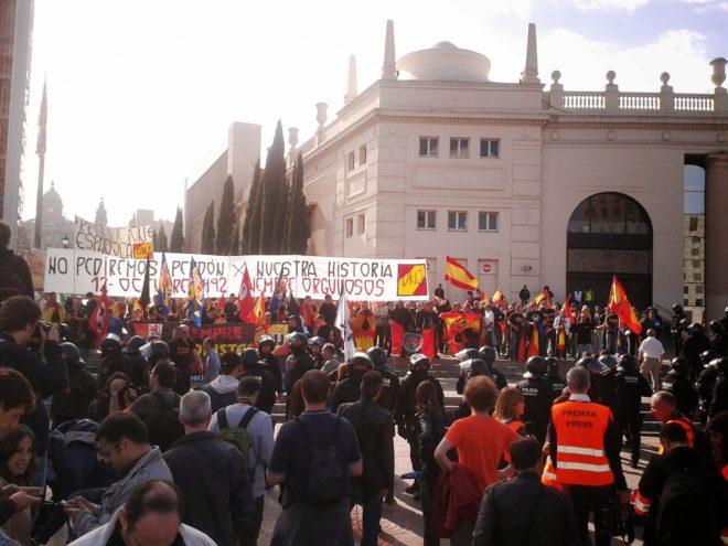 Manifestacja na Pl. Espanya