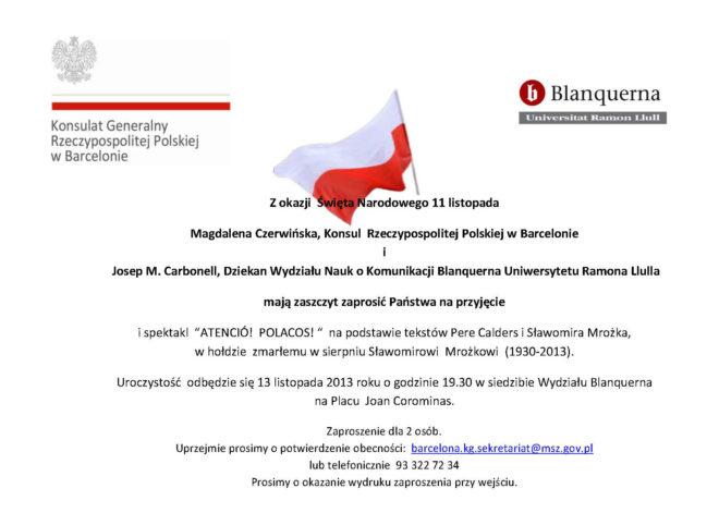 Zaproszenie11listopada